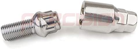 Precision Chrome Locking Radius Bolts for Genuine /Àudi A2 Alloy Wheels PN.SFP-B14R118
