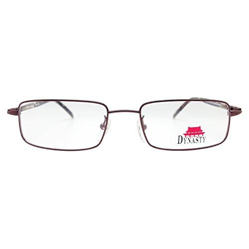 Advantage Eyewear Dynasty Tsin Eyeglasses Prescription Frames, 52-18-140 Dark Burgundy