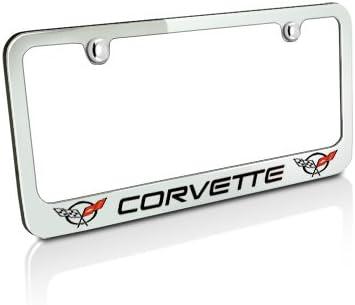 C5 Logo 1997-2004 Corvette Stainless Steel License Plate