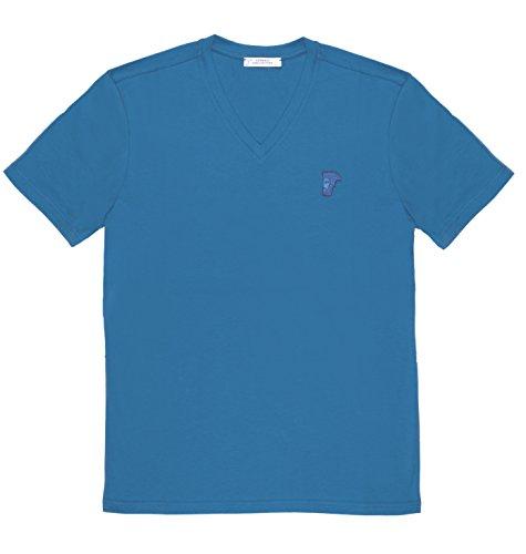 Versace-Collection-Mens-Sky-Blue-Medusa-Logo-V-neck-T-shirt