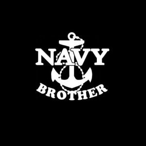 Navy Brother Anchor Vinyl Decal Sticker - Sticker Graphic - Auto, Wall, Laptop, Cell, Truck Sticker for Windows, Cars, Trucks