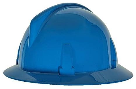MSA Safety 475389 topgard non-slotted protectora Sombrero con FAS-TRAC Suspensión, estándar, color azul: Amazon.es: Amazon.es