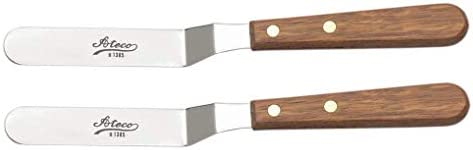 Ateco 1385 Spatula Icing Frosting Spreader Decorating Tool-Wood Handle 2-Pack