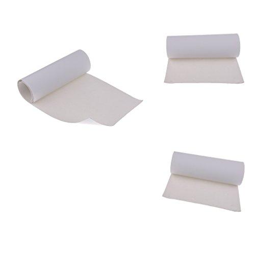 Baosity 3枚 高品質 PVC製 スケートボードグリップテープ 研磨紙 サンドペーパー