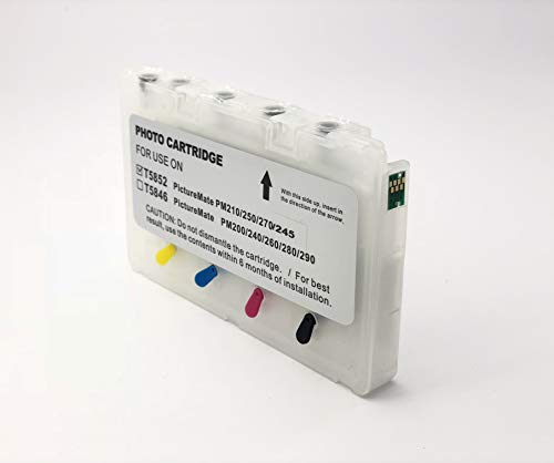 UV INFOTECH T5852 Empty REFILLABLE Cartridge with AUTO Reset CHIP  ARC  Compatible with PM215/235/245 Printer