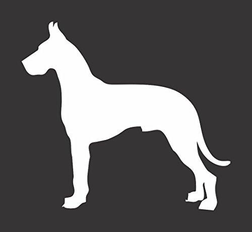 - Barking Sand Designs Great Dane Dog Silhouette - Die Cut Vinyl Window Decal/Sticker for Car/Truck