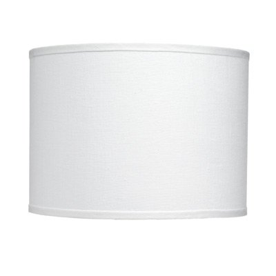 Upgradelights White Linen 16 Inch Drum Lampshade Replacement (Silk White Lamp Pendant)