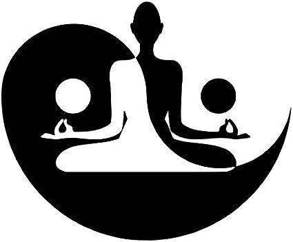 """Guru Yoga Meditation Floral Flower Car Bumper Vinyl Sticker Decal 5/""""X3.5/"""""""