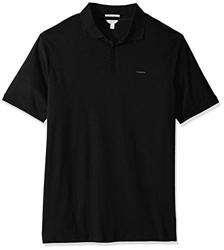 Calvin Klein Men's Tall Liquid Cotton Polo, Black, 4X-Large Big