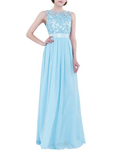 (YiZYiF Women Crochet Lace Wedding Bridesmaid Formal Gown Prom Party Maxi Dress Sky Blue 16)