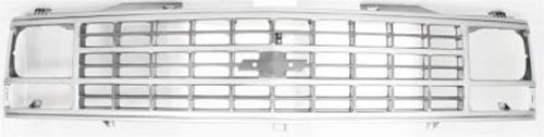 (CPP Silver Grille Assembly for Chevrolet Blazer, Pickup, Suburban GM1200141)