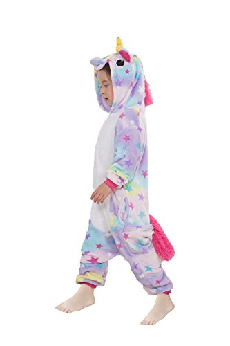 JT-Amigo Kids Unisex Pajamas Onesie Costume, Unicorn Star, 4-6 Years -