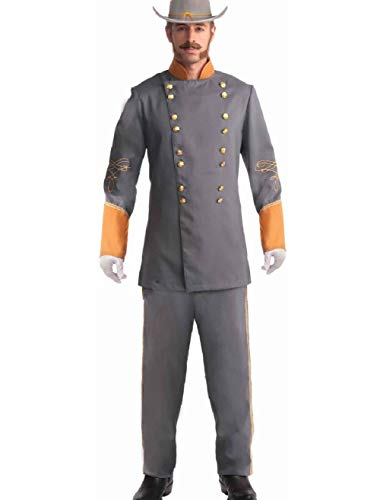 Adult Southern Grey Civil War Officer Soldier Costume Mens Large (42)