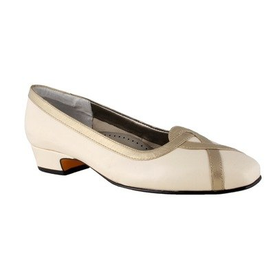 Platino Leather Footwear - Ros Hommerson Women's Cross Slip-on Shoes,Wheat Kid Leather/Platino Patent Leather,6 M US