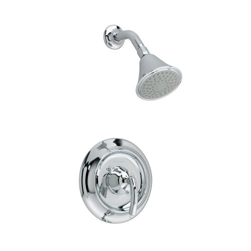 American Standard T038501.002 Tropic Shower Only Trim Kit with Showerhead, Flange and Arm, Brass Escutcheon, Polished Chrome