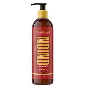 UrbanBotanics® Onion Oil for Hair Growth – Blend of 20 Essential oils & 40 Herbs & Redensyl – 250ml