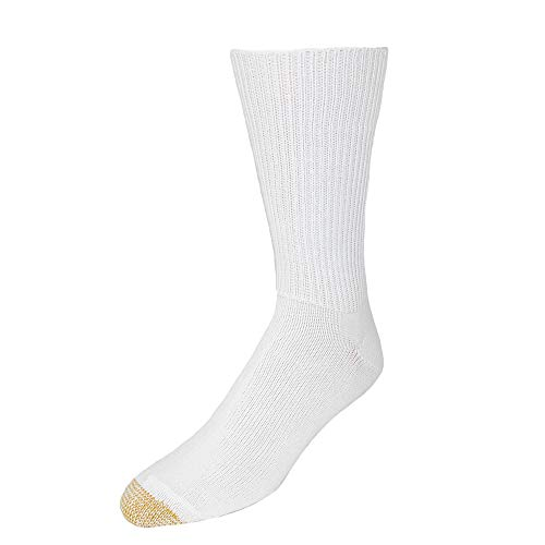 - Gold Toe Men's Fluffies Soft Casual Socks (Pack of 3), White