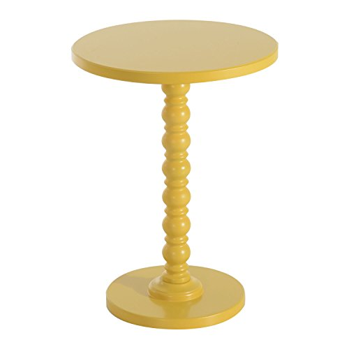 Yellow Vintage Stylish Side Coffee Table Round Stand Desk Bar Outdoor Living Room