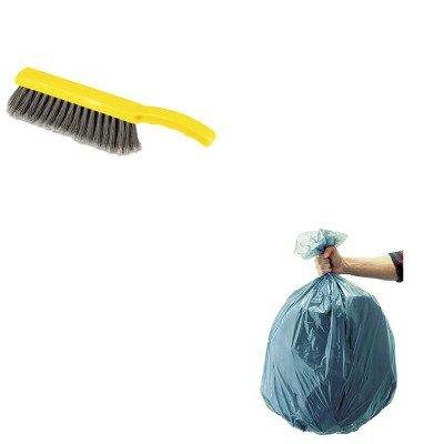 KITRCP501188GRARCP6342 - Value Kit - Rubbermaid Countertop Brush (RCP6342) and Rubbermaid 5011-88 Tuffmade Polyliner Low-Density Can Liners, 55 Gallons (RCP501188GRA)