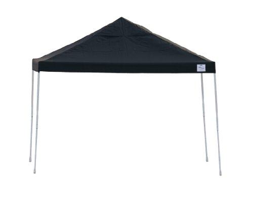 12x12 Straight Leg Pop-up Canopy, Black Cover, Black Roller Bag by ShelterLogic