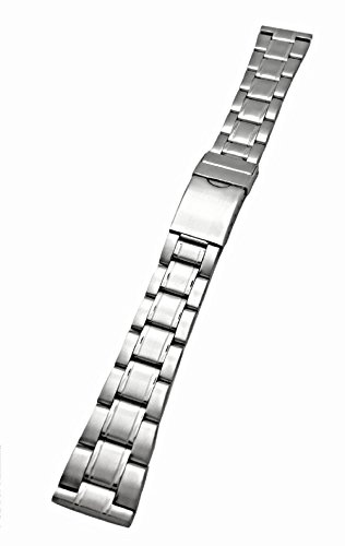 20mm Silver Metal Watchband by NewLife | Men's Women's Stainless Steel Strap Replacement Wrist Band Bracelet with Clasp