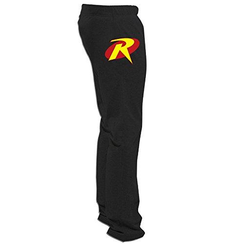 Luckva Mens Custom Robin Symbol Outdoor Sports Running Pants (Robin Custome)