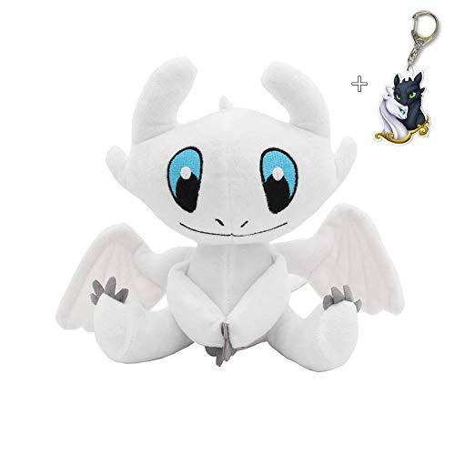 Ameshop HTTYD How to Train Your Dragon 3 White Dragon Light Fury Plush Toy Soft Stuffed Doll 10 Inch