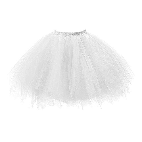 Bettli Girls's Short Vintage Short Tulle Petticoat Skirts Tutu Ballet Bubble Tutu Underskirt (Short Bubble Skirt)