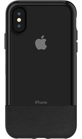 Otterbox Exclusive Bundle: Ultra-Slim Case for iPhone X/Xs - Extreme Drop Protection - Premium Leather with Clear Design - Scratch Resistant - Black + Bonus Clear Tempered Glass Screen Protector