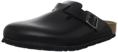 Birkenstock Women's Boston SFB Heritage Leather, Black Amalfi, 42 M EU (Clogs Professional Birkenstock)