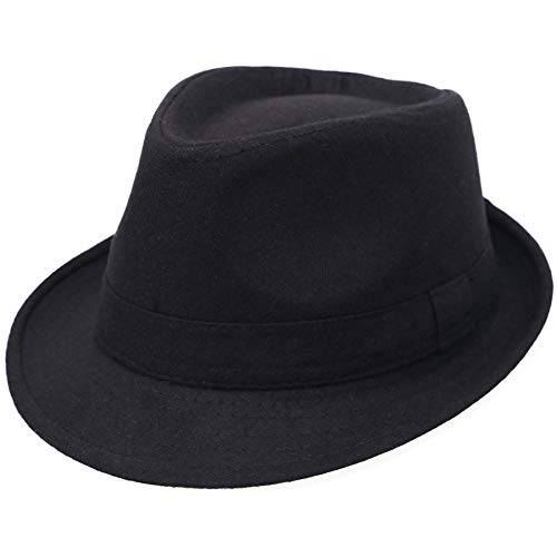 Jasmine Women Men Classic 1920s Manhattan Structured Trilby Fedora Hat