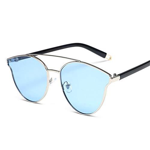 polarizadas sol Blue redondas gafas de elegantes NIFG sol Gafas de xwaqxUg8