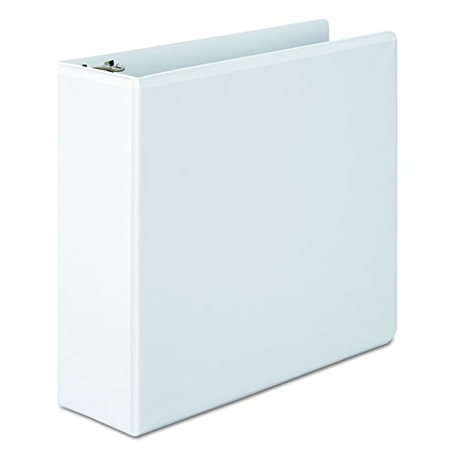 Wilson Jones 3 Inch 3 Ring Binder, Basic Round Ring View Binder, White (W362-49W) Large 3 Ring Binder