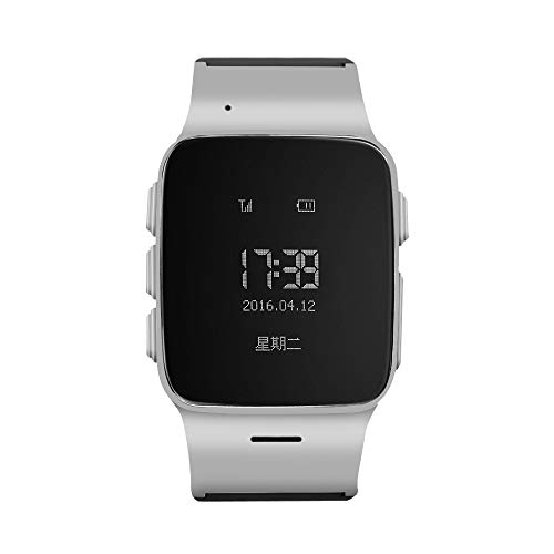 TOPCHANCES Elderly Kids Smart Watch with Dual Way Call SOS Anti-Lost GPS Pedometer WiFi Tracking Remote Monitor Watches for iPhone Android Phones-English Display (Silver)
