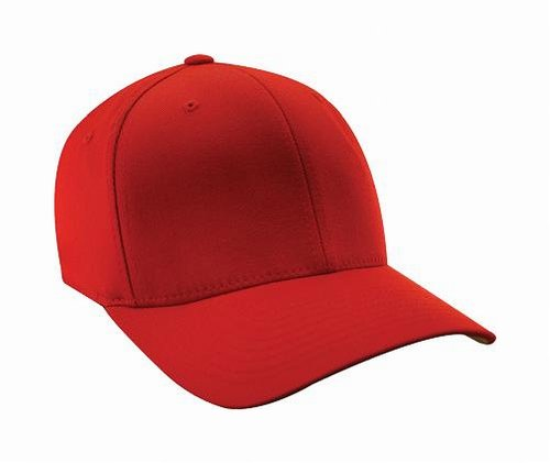 Flexfit Premium Original Wooly Combed Twill Youth Cap 6277Y (Red)
