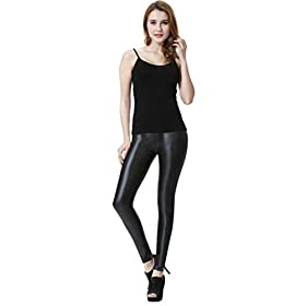 - 31w5X3HIxkL - Sexy Womens Faux Leather High Waisted Leggings