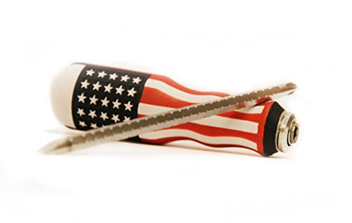 USA Screwdriver 2-in-One Combinations - Flat & Phillips Screwdriver Heads, Magnetic Tips, Heavy Duty Grip Home & Professional Use - American Flag Theme By Steel & Wood US Tools by Steel & Wood US Tools (Image #1)