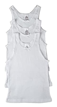 3 Pack Jack n Jill Girls White Camisole Scoop Neck Undershirt 100/% Cotton