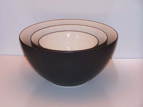 Noritake Colorwave Graphite #8034 Mixing Bowls-Set(s) Of ()