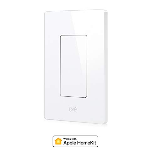 Eve Light Switch - Connected Wall Switch, Bluetooth Low Energy, white (Apple HomeKit, iOS) - 10027805 (Renewed)