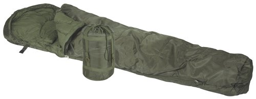 Northstar Tactical Operations Sleeping Bag Hooded Mummy L.T.R. 30 Degrees, Compression sack with straps (Green), Outdoor Stuffs