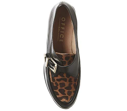 En Et Office Creeper Grouch Chaussures Fab Cuir Noir Léopard OvNm8n0w
