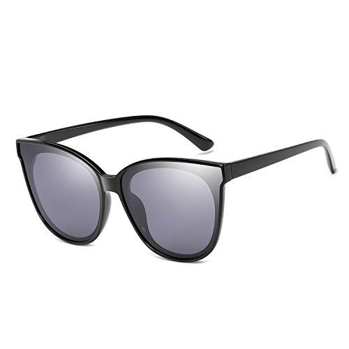 Polarized Oversized Frame 100%UV Protection Fashion Cateye Style Sunglasses Eyewear for Women (Black, - Movement Sunglasses