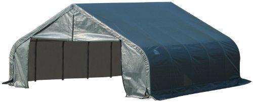ShelterLogic 80021 Green 18'x24'x12′ Peak Style Shelter, Outdoor Stuffs