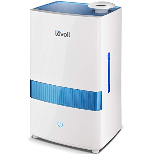 LEVOIT Cool Mist Humidifier for Bedroom, 4.5L Ultrasonic Air Vaporizer Humidifier for Babies, Large Room and Nursery, Essential Oils, Whisper-Quiet, Auto Shutoff, Lasts up to 40 Hours