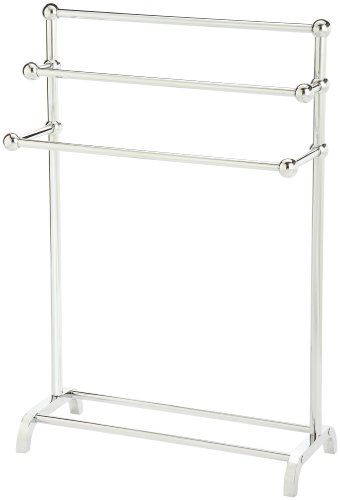 Taymor 01-1085 3-Tier Floor Towel Valet, Chrome
