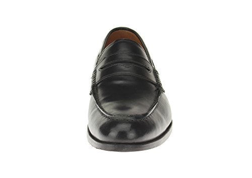 Luciano Natazzi Mens Slip-On Full Leather Penny Loafer Dress Shoe SL308 Black 4HQRepr1Dy