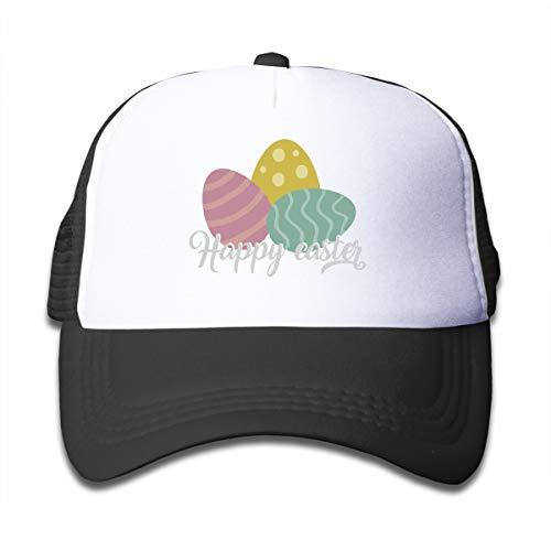 VOLODYM1970 Boys and Girls Baseball Cap Spring Eggs Easter Feast Mesh Adjustable Hip Hop Kids' Trucker ()