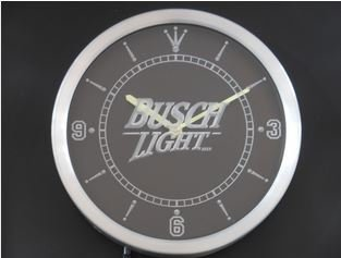 Busch Light Beer Neon Sign LED Wall Clock by WorldLEDHouse