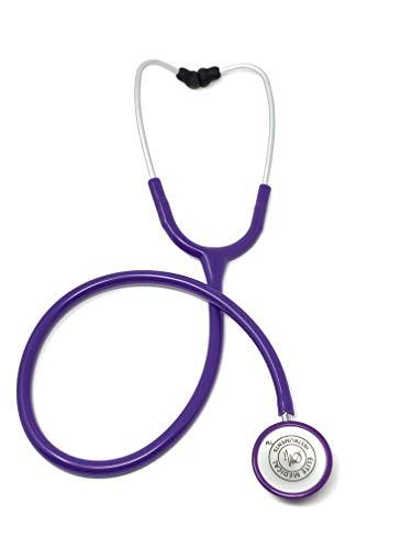 EMI Clinical Lightweight 4oz Dual Head Stethoscope - Purple